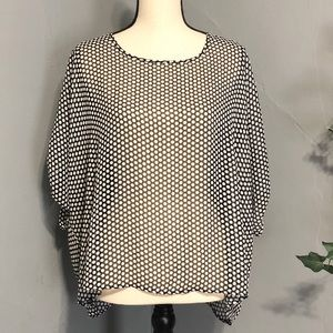 WD.NY Black & White Polka Dot Blouse